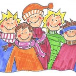 Weihnachtsmarktfamilie
