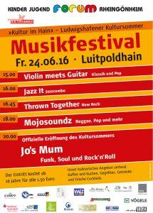 Ankündigungsülakat für Kultur im Hain, Ludwigshafen-Rheingönheim